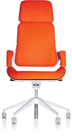 Sopada Modern Conference Office Chair Mid Back Orange Stunning