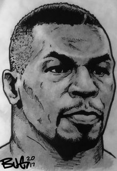 Portrait of Mike Tyson by BradGeiger on Stars Portraits, the biggest online gallery for celebrity portraits. Mike Tyson Tattoo, Tyson Boxer, Boxing Tattoos, Cool Live Wallpapers, Bob Marley Art, Cherub Tattoo, Dad Pictures, Drawing People Faces, Boxing Posters