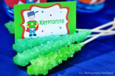 kryptonite candy is a must and you can make it or buy it.