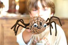 bricolage-enfants-cone-pin-araignee