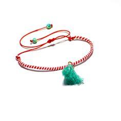 #Playful March Mint# Diy Jewelry, Handmade Jewelry, Jewellery, Jewelry Patterns, Anklets, Friendship Bracelets, Tassel Necklace, March, Mint