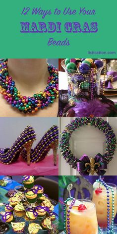 12  fun ways to use your Mardi Gras beads