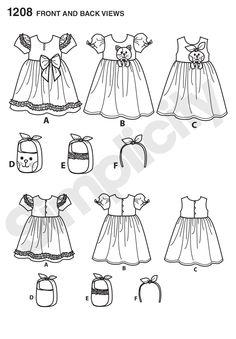 Simplicity Creative Group - Child's Dresses, Purses and Headband
