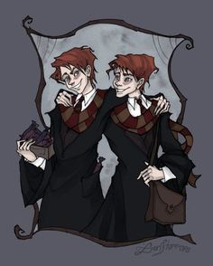 Fred, George by IrenHorrors