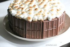S'mores are a Summer favorite, but this S'mores Cake takes things further. With a top of toasted marshmallows, it's chocolatey perfection.