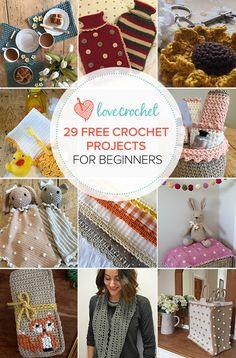 29 free crochet patterns for beginners