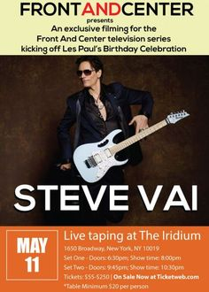Steve Vai announces two special and intimate NYC performances