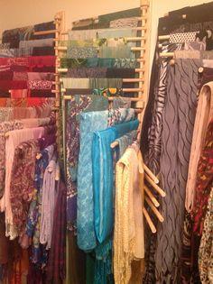 Hijab organizer!! I used 3 pant racks to achieve this :)