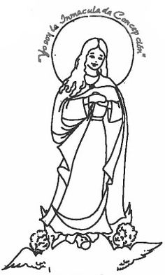 Immaculate Conception Coloring Sheet  Mary Mother of God Rosary