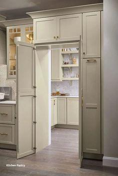 Kitchen Pantry Design, Kitchen Cabinet Organization, Diy Kitchen Cabinets, Modern Kitchen Design, New Kitchen, Kitchen Ideas, Pantry Ideas, Kitchen Remodeling, Organization Ideas