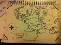 Map of Middle Earth -  By C. Jagger