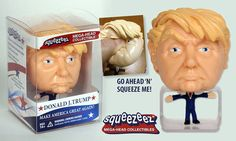 Donald J. Trump Squeezeez: Mega Head Collectible, Make America Great Again by Breygent Marketing Donald Trump Costume, Sports Games For Kids, 3d Prints, Presidential Candidates, Stress Relief, Trading Cards, Marketing, Toys, How To Make
