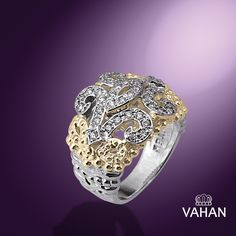 "How would you fancy this ravishing addition to the ""Fleur de Lys"" Collection? #VahanFleurdeLys #VahanPinterest"