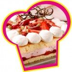 Aardbeien bavaroise taart