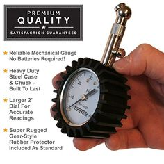 "Check Out This Premium Tire Pressure Gauge. A recent customer Jerry Walters said: ""It works great. It's sturdy, repeatable and it's made out of a strange non-plastic material. I think it used to be called ""metal"" :-)  Grab it on discount today from Amazon:  http://www.amazon.com/TireTek-Premium-Tire-Pressure-Gauge/dp/B00PT18QAQ - enter discount code 9L3W3545 at checkout.  #tiregauge #tiretek #amazon"