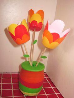 diy fleurs récup