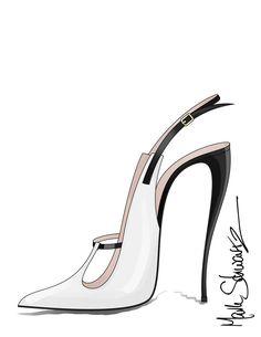 Mark Schwartz shoe designer and Artist sells his unique paintings of shoes online. Fashion Illustration Shoes, Fashion Illustration Tutorial, Sneakers Fashion, Fashion Shoes, Fashion Accessories, Fashion Design Drawings, Fashion Sketches, Shoe Sketches, Shoe Art