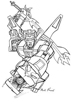 Lion voltron is up in front being the best and most for Voltron coloring pages free