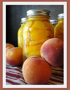 Grandma's homemade canned peaches (nothing better). This one is the best so far and uses the least amount of sugar. Has complete instructions.