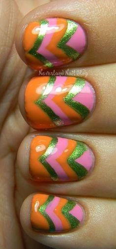Neverland Nail Blog: Zoya Summer Chevron Mani!