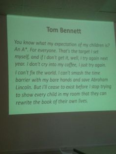 Tom Bennett quote. Target Setting, For Everyone, Try Again, My Coffee, My Children, Toms, How To Get, Education, Quotes