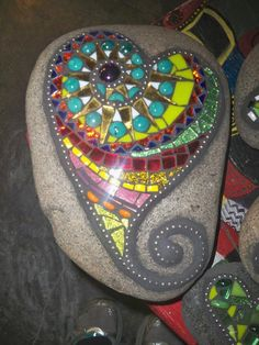 Mosaic on Garden-Stones by Jill Kernodle