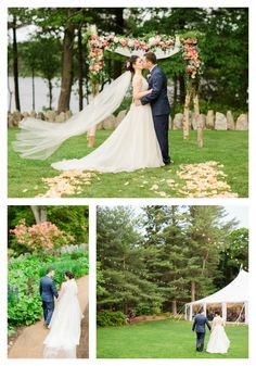 Late spring wedding at The Estate at Moraine Farm captured expertly by Deborah Zoe Photography. Farm Wedding, Wedding Stuff, Spring Blooms, Lake View, Spring Wedding, New England, Backdrops, Wedding Venues, Flora