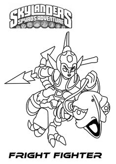 skylanders colouring pages