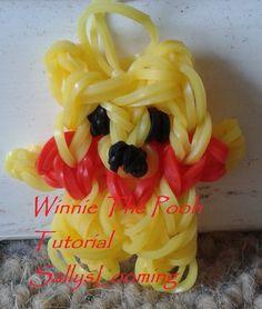 Winnie The Pooh Mini Charm Loom Band Tutorial