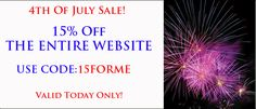 Happy 4th of July! Enjoy 15% off Site Wide  #ebubbles #ebubblespromotions  http://www.ebubbles.com/