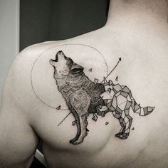Wolf Tattoos - Check the recent tattoo designs Wolf Tattoos, Body Art Tattoos, New Tattoos, Thigh Tattoos, Girl Tattoos, Tribal Tattoos, Tatoos, Kurt Tattoo, Tattoo On