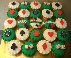 Space Themed Cupcakes | poker theme cupcakes | Flickr - Photo Sharing!