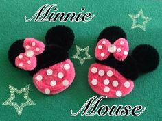 MINNIE MOUSE HECHA CON  LIMPIA PIPAS