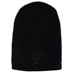 Oakland Raiders New Era Solid Slouch Team Knit Beanie - Black - $19.99