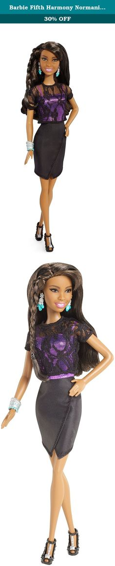 Barbie Fifth Harmony Normani Doll. Anything is possible -- especially when you're having fun with your girls! Fifth Harmony fans, or Harmonizers, will love this doll that represents Normani from Fifth Harmony. She's ready to rock in a fashion inspired by the outfit worn in the Fearsome Fivesome's Barbie music video. A sophisticated black skirt shines with a black top adorned with purple foil accents. Accessories include an amazing pair of black booties and signature bling. Fans will love...
