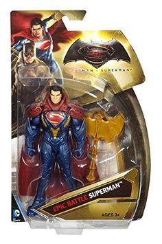 Batman v Superman Dawn of Justice Epic Battle Superman Gold Axe 6 inch Figure #Mattel