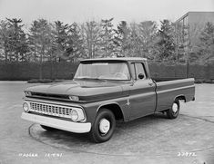 The 1947 - Present Chevrolet & GMC Truck Message Board Network - View Single Post - Development/ Concept Photos! 1966 Chevy Truck, Jeep Pickup Truck, Classic Pickup Trucks, Chevrolet Trucks, Pickup Camper, Gmc Trucks For Sale, Gm Trucks, Old Chevy Pickups, Chevy C10
