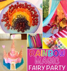 Children party ideas kids party ideas rainbow magic fairies birthday party games for 8 year olds . Magic Birthday, Fairy Birthday Party, Rainbow Birthday Party, 6th Birthday Parties, Birthday Ideas, Monkey Birthday, Girl Birthday, Rainbow Magic Books, Rainbow Magic Fairies
