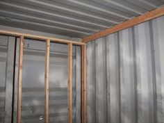 Sea, Shipping Container Cabin, Shelter, Home: Framing and insulation #containerhome #shippingcontainer