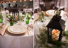 lantern centerpieces // photo by Laura Yang Photography