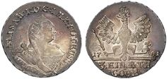 1/3 Taler. Russian Coins. Russian Coinage for East Prussia. Moscow mint, 1761. 7,88g. Bit 806 var. Choice uncirculated. Price realized 2011: 6.000 USD.