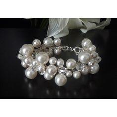 Brautschmuck zur Hochzeit Perlenarmband 925