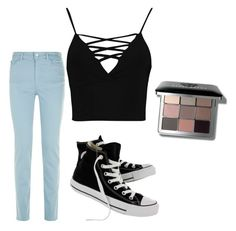 """Casual Wear"" by mdomo on Polyvore featuring Armani Jeans, Boohoo, Converse and Bobbi Brown Cosmetics"