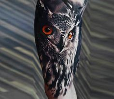 Owl tattoo by A D Pancho