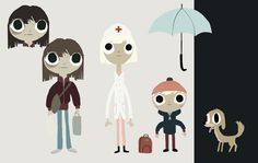 some character designs i did for my u2 video in 2009. colors by Jon Klassen.