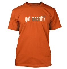 got mastiff? Funny Adult Mens T-Shirt Orange Small