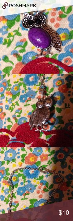 NWOT Owl 🦉 Pendant with Necklace New without tags owl pendant with a  silver tone necklace. The necklace has a claw clasp. Stylish! Jewelry Necklaces