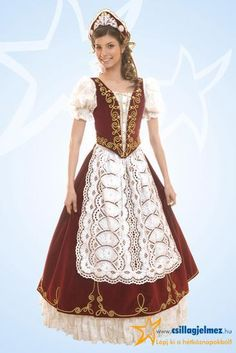 Női bocskai ruha 02 Folklore, Old Fashion Dresses, Wedding Attire, Wedding Dresses, Hungarian Embroidery, Special Dresses, Folk Costume, Up Styles, Festival Outfits