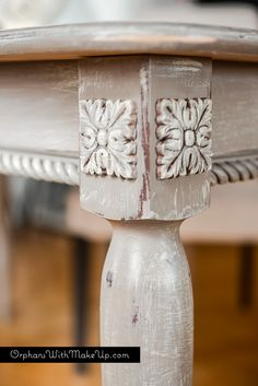 Appliques for furniture Kitchen Cabinet Rope Moulding Wood Appliqués Added To Plain Table Finished With Coco Wash Of Country Grey Chalk Paint Decorative Paint By Annie Sloan Pinterest 58 Best Diy Appliques Furniture Etc Images Crafts