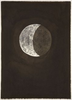 iamjapanese:  Stas Orlovski(Moldovian/American b.1969) Full Moon  2004 Ink And Xerox Transfer On Paper